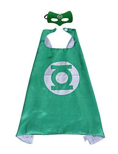 Extremely Scary Halloween Costumes (Kids Night-luminous CAPE & MASK SET Superhero and Princess Halloween Costume Greenlantern)