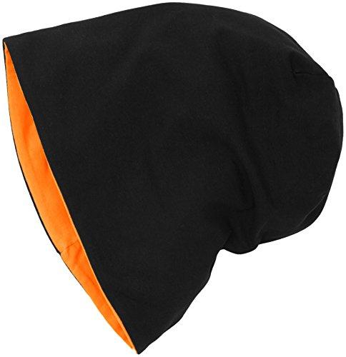 Gorros Mehrfarbig neonorange Punto Beanie Jersey black 10377 de MSTRDS Reversible Unisex Adulto 3898 w8ftq5FvX