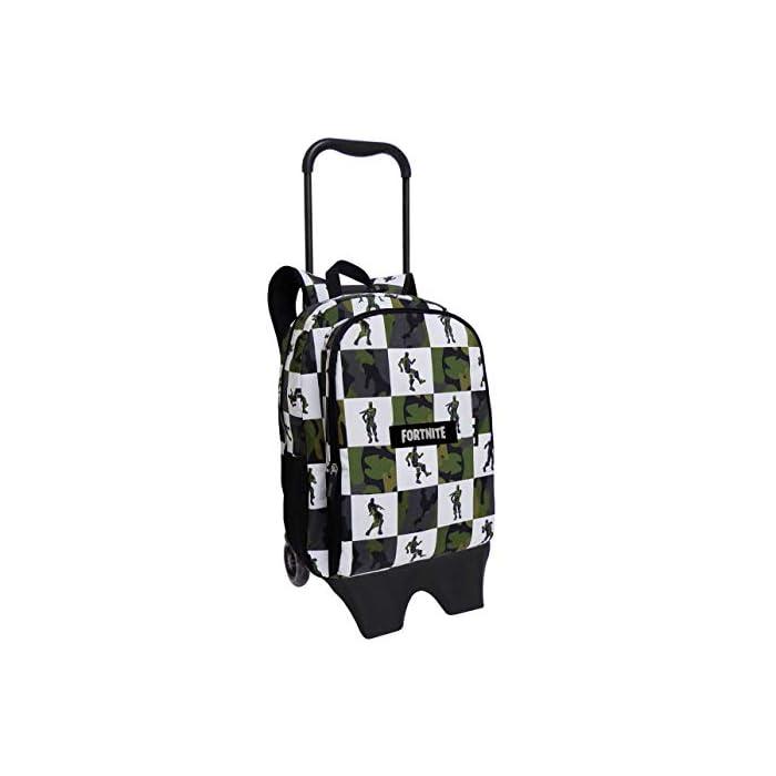 Mochila con tirantes acolchados Mochila con trolley adaptable Estampado de moda