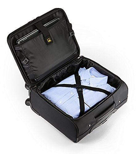 City Traveler Durable Nylon Business Suitcase - Carry On with Spinner Wheels (Notebook Briefcase) by City Traveler (Image #3)