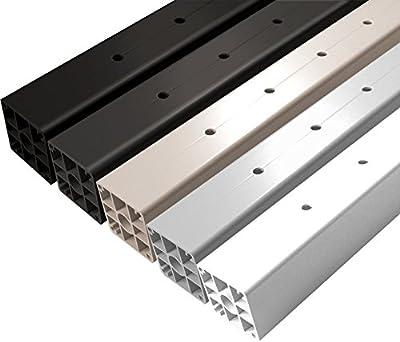 "Aluminum Deck Mount 37"" Terminal Post with 11 Holes"