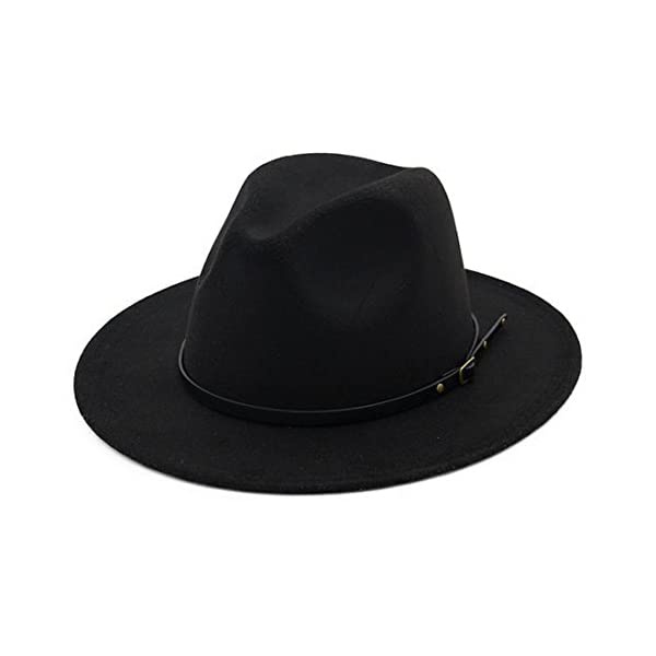 Lisianthus Women Belt Buckle Fedora Hat