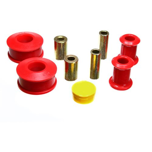 Energy Suspension 15.3117R Control Arm Bushing Set; Red; Front; Performance Polyurethane;