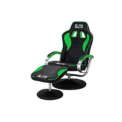 Oficina de y Gaming silla Elite MG de 300 de piel sintética con soporte fijo y