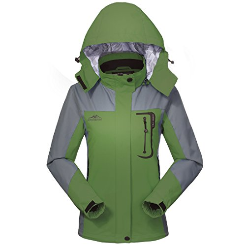 MICKYMIN Waterproof Jacket Rain Coats for Women Outdoor Hooded Softshell Camping Hiking Travel Windproof Jackets