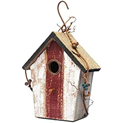 "Later M Wood Bird House 9.5"" by 2019 Antique Classics Handicrafts Birdhouse Garden Decoration"