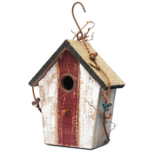 "Later M Wood Bird House 9.5"" by 2019 Antique Classics Handicrafts Birdhouse Garden Decoration"