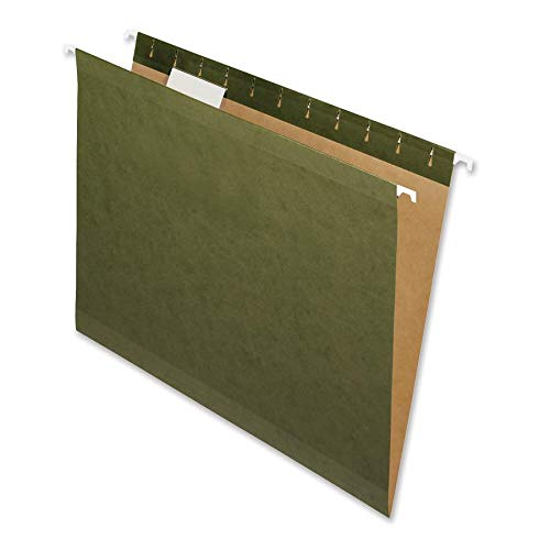 Nature Saver 08650 Hanging File Folders,Recycled,1/5 Cut,Letter,25/BX,Green