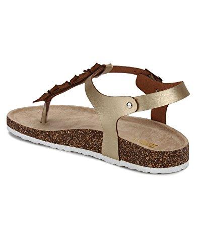 Yepme - Sandalias de vestir de Material Sintético para mujer dorado dorado