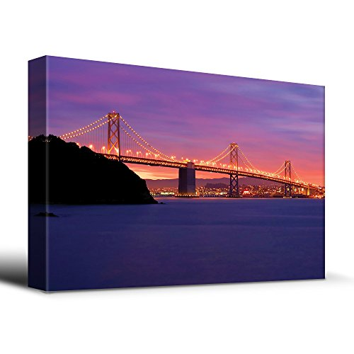wall26 San Francisco Bay Bridge - Canvas Art Home Decor - 24