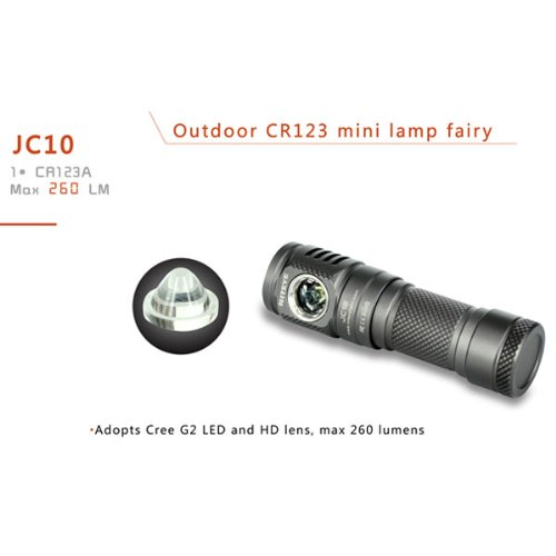 NITEYE JC10 CREE G2 3 Modes Side-Lighting MINI LED Flashlight 1*CR123A