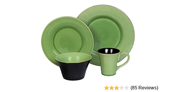 Amazon.com | Corelle Hearthstone Stoneware 16-Piece DinnerwareSet with Crackle Finish Green Tea Dinnerware Sets Dinnerware Sets  sc 1 st  Amazon.com & Amazon.com | Corelle Hearthstone Stoneware 16-Piece DinnerwareSet ...