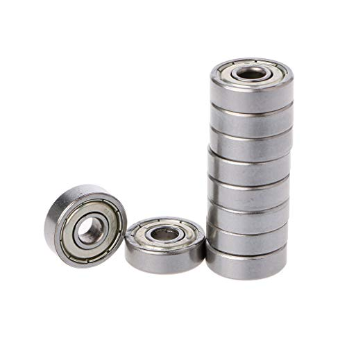HOWWOH 10 Pieces 625ZZ Mini Metal Double Shielded Flanged Ball Bearing for 3D Printer -