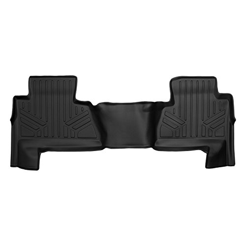 MAX LINER B0221 Custom Floor Mats Liner Black for 2015-2019 Chevrolet Suburban/GMC Yukon XL (with 2nd Row Bench Seat) - Gmc Yukon 2nd Row Bench