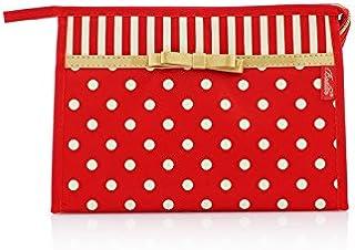 HOUHOUNNPO Sac de Rangement Dot Motif cosmétique Sac Maquillage Sac Poche Sac de Lavage pour Les Femmes (Rouge) Pochette Cosmétique Femme