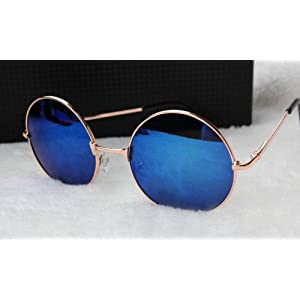 TRURENDI Hippie Shades Hippy 60S John Lennon Style Vintage Round Sunglasses Fancy Dress (A3)