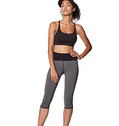 Lululemon Yoga Train Times Crop Pant Black and Heather Grey Size 8 by Lululemon