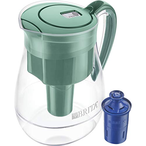 Brita 36397 Monterey Water Filter Pitcher, 10 Cup, Green