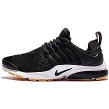 Nike Womens Air Presto Black/Black-white-gum Yellow Running Shoe Sz, 9 B(M) US
