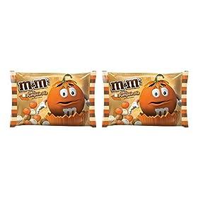 M&M's White Pumpkin Pie Chocolate Candy 8oz Bag