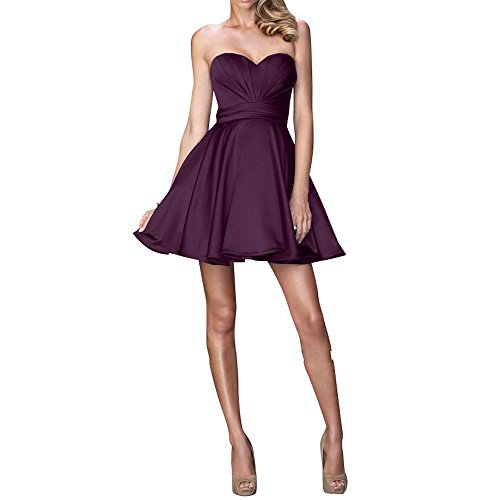 Tanzenkleider Partykleider Brautjungfernkleider Brau mia Traube Abendkleider Mini Kurzes Festlichkleider La Einfach Cocktailkleider 8FzYq