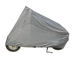 Guardian By Dowco - Indoor/Outdoor Scooter Cover - Lifetime Limited Warranty - ClimaShield Fabric - Water Resistant - UV Protection - Gray - Medium [ 50010-00 ]