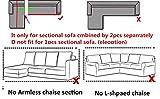 ELEOPTION Sectional Sofa Slipcover Couch