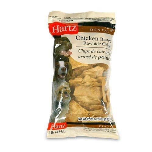 Hartz Rawhide Chips Chicken Flavor, 1 Pound, My Pet Supplies