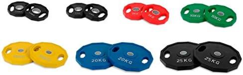 Kroon-25kg-Discos de pesa-olímpica-goma-50mm-Conjunto: Amazon.es: Deportes y aire libre