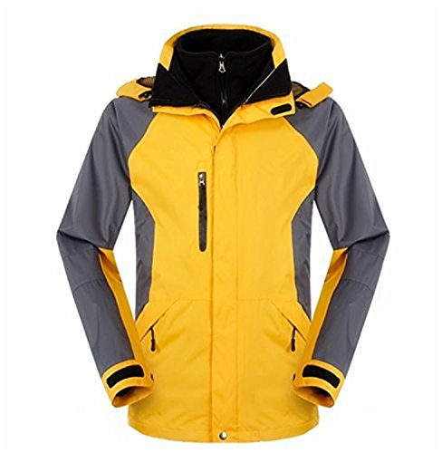 [Brucest Men's Waterproof Mountain Jacket Fleece Windproof Ski Jacket YellowX-Large product of good] (Morph Suite)