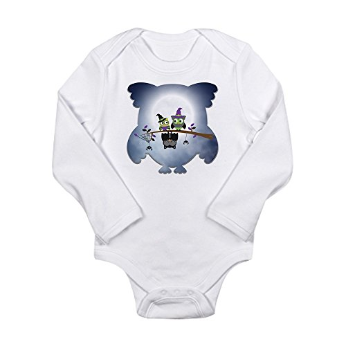 Truly Teague Long Sleeve Infant Bodysuit Little Spooky Vampire Owl With Friends - Cloud White, 18 To 24 Months -