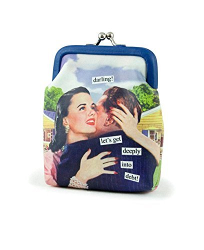 Anne Taintor Bags - Anne Taintor Vinyl Kiss Lock Change Coin Purse - Darling. Let's Go Deeply Into Debt