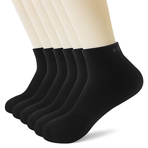 BERING Men's Athletic Low Ankle Running Socks (6 Pair Pack) ()