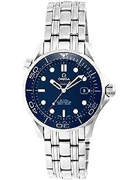 Men's 21230362003001 Seamaster300 Analog Display Swiss Automatic Silver Watch
