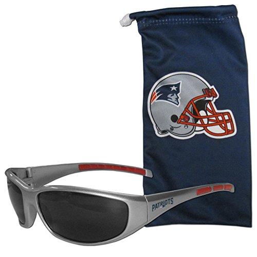 NFL New England Patriots Adult Sunglass and Bag Set, - Sunglasses Patriots