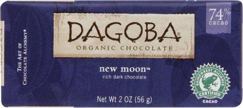 Dagoba NEW MOON Bittersweet Dar Chocolate (2-Ounce, Pack ...
