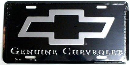 "Genuine Chevrolet Chevy Trucks Cars Silver 6/""x12/"" Aluminum License Plate Tag"
