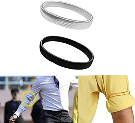 Camisa manga sostenes brazalete de brazo elástico brazalete de metal para hombres damas (color: negro): Amazon.es: Deportes y aire libre