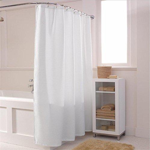 HomJo Cortina de ducha del cuarto de baño de la decoración casera Cortina impermeable del cordón de la tela del poliéster...