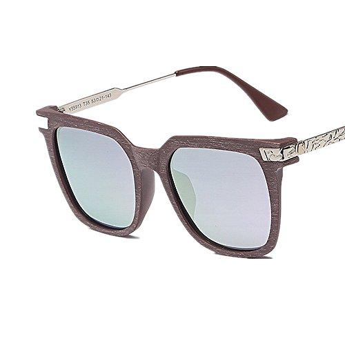 Madera Vacaciones Gafas de Color Para UV de Estilo Sol Peggy de gafas Polarizadas Conducción de Verano de Mujeres Al Marco Aire Libre Sol de Gu Las de PC Púrpura Púrpura Color Retro de Protección Playa WYqvq1f