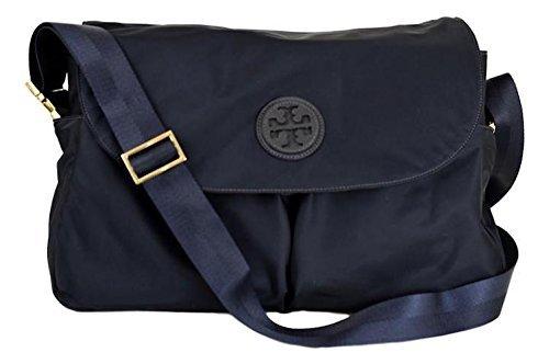 Tory Burch Nylon Messenger Baby Bag Tote Handbag (Tory Navy) (Nylon Baby Bag Tote)