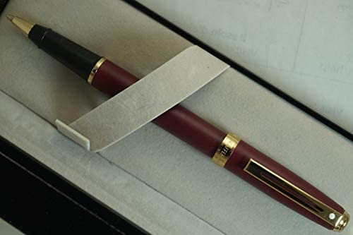 Sheaffer Made in The USA Limited Edition Signature Prelude Matte Burgundy Finish Cap and Barrel with 22KT Gold Appointments, Rollerball Pen