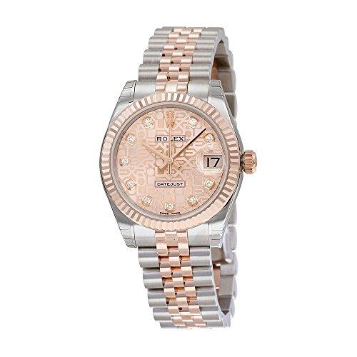 Rolex Lady Datejust Automatic Pink Jubilee Diamond Dial Steel and 18kt Everose Gold Ladies Watch 178271PJDJ