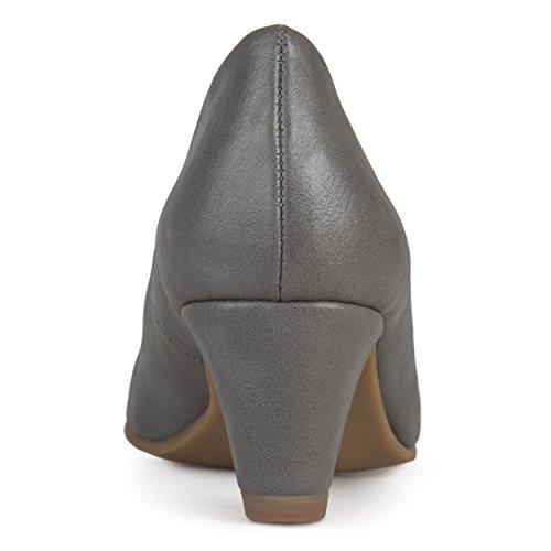 Collezione Journee Donna Comfort Fit Tacco Classico Pompe Grigie