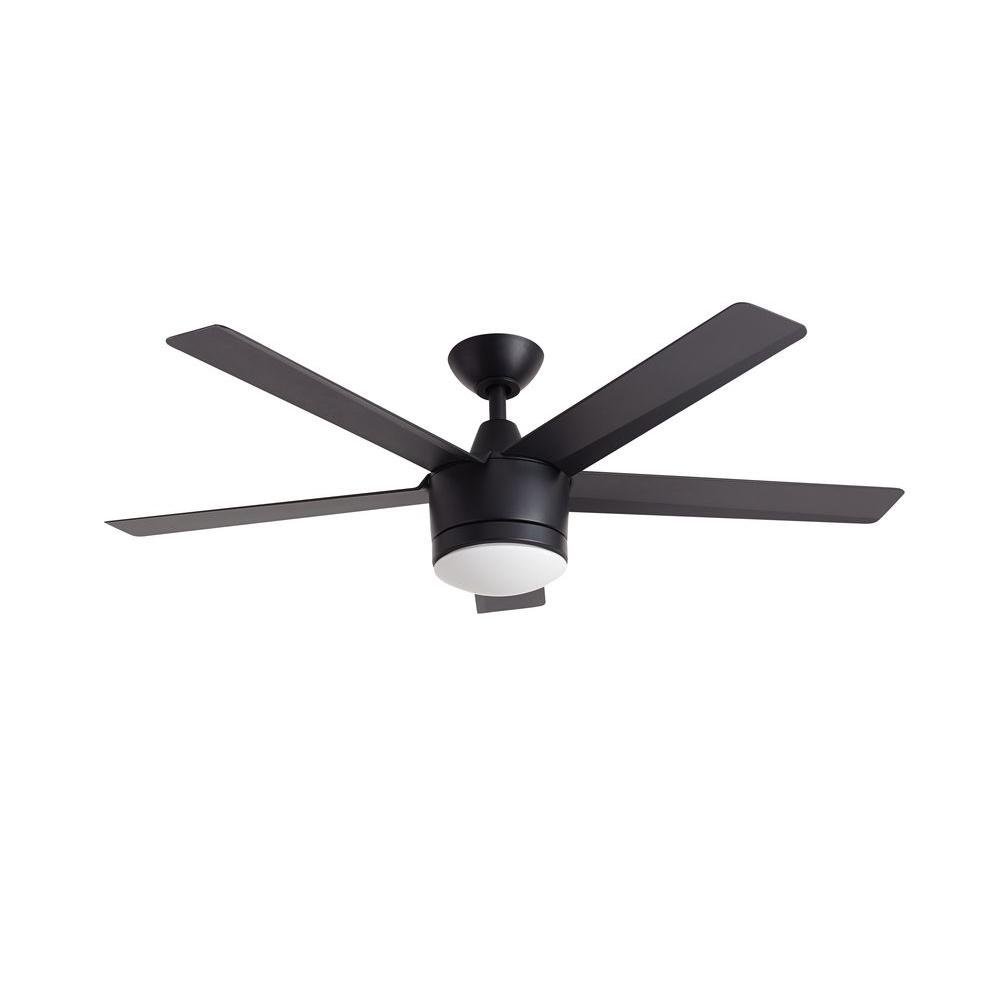 "Home Decorators Collection Merwry LED 52"" Indoor Ceiling Fan (Black)"