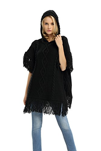 Womens Poncho Sweater Knitted Batwing product image
