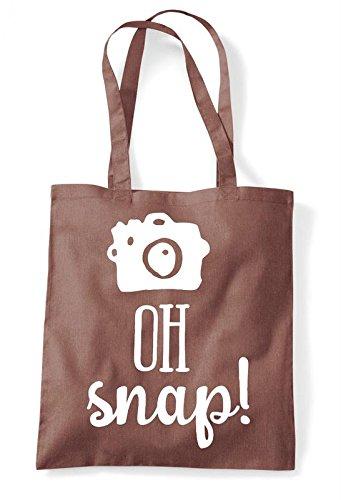 Tote Cute Snap Chestnut Statement Bag Camera Shutter Shopper Oh qgZwUX1x