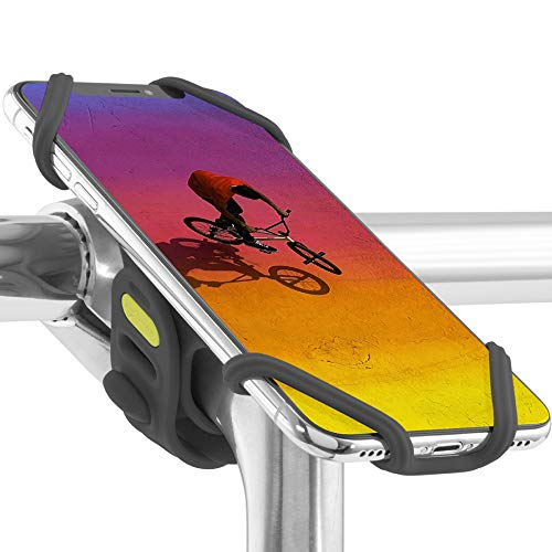 Universal Bike Phone Mount (Upgraded Ver.) Bicycle Stem Handlebar Cell Phone Holder for iPhone Xs Max XR X 8 7 Plus Samsung Galaxy S10 S9 S8 Note 9 Pixel 3 Smartphone, Bike Tie Pro 2 Series (Black)