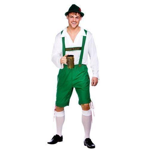 Lederhosen Mens Bavarian Beer Guy Oktoberfest Outfit Fancy Dress Costume German
