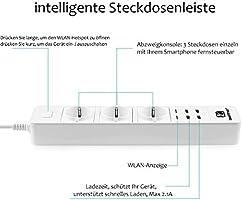 Wi Fi Intelligente Steckdosenleiste Loonfree überspannungsschutz